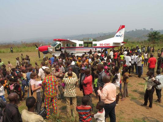 Empfang in Kasongo-Lunda