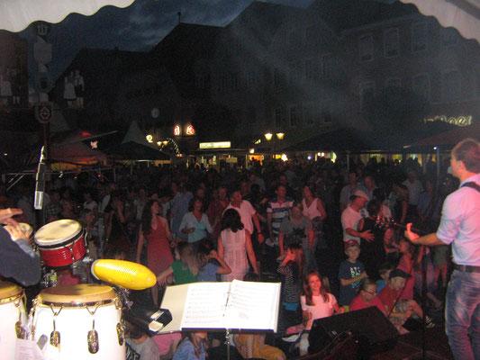 Italienische Nacht, das Publikum war gut drauf.