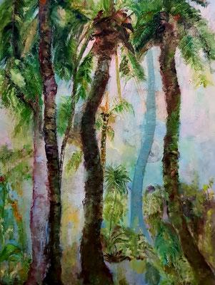 Paysages de Caraïbes-huile-81x60-lin