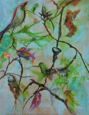 Son souffle, le vent de ses voiles- 92 x 73-Acrylique- 09/2016