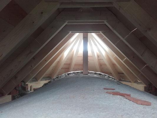 Dachstuhl einer Kapelle