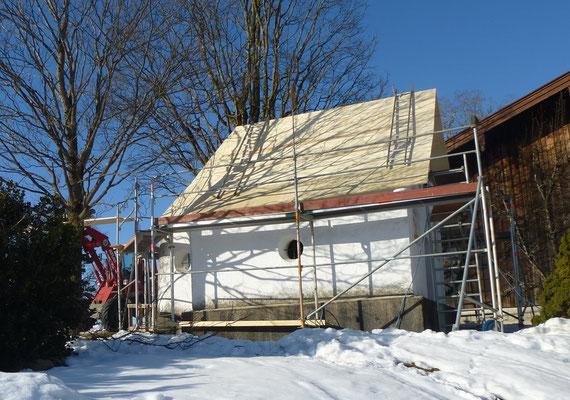 Dachsanierung einer Kapelle in Schaftlach