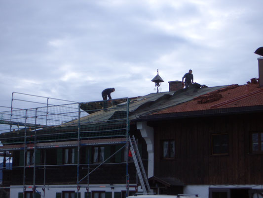 Beim Abriß eines Dachstuhls