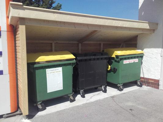 Mülltonnenüberdachung