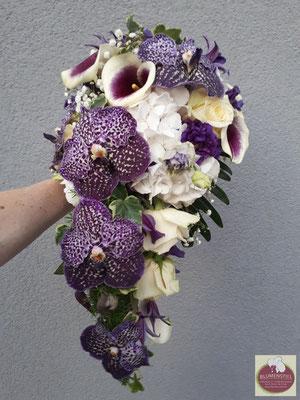 Brautstrauß Wedding Hochzeit Enzkreis Bridalbouquet Weddingbouquet Brautstrauss Braut abfließend Orchideen