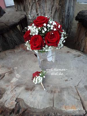 Brautstrauß Wedding Hochzeit Enzkreis Bridalbouquet Weddingbouquet Brautstrauss Braut rote Rosen