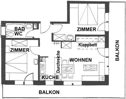 Ansichtsplan Wohnung