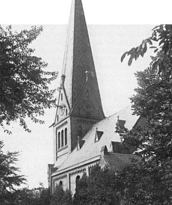 """Die """"Eppendorfer Filialkirche"""" für Fuhlsbüttel, Langenhorn und Klein Borstel im Jahre 1893"""
