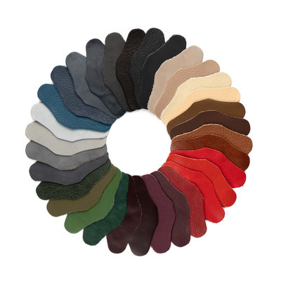 Leder-Farbsortiment für Hosenträger