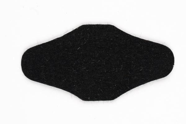 Hosenträger Rückenteil Filz Schwarz
