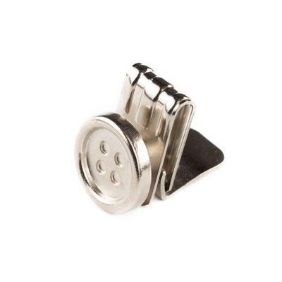 Klemmknopf Silber offen