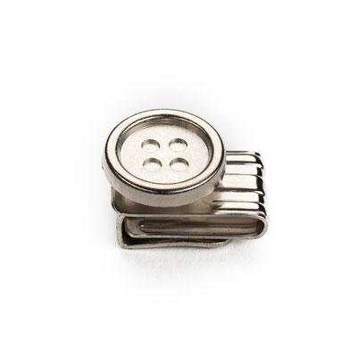 Klemmknopf Silber geschlossen
