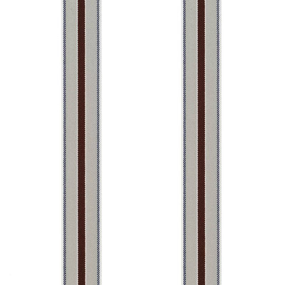 Streifen-Mitte-Weinrot