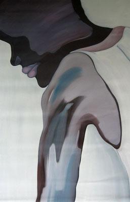 Menschenbilder, Öl auf Leinwand, 80 x 40 cm