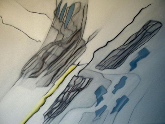 Landschaft, Öl auf Leinwand, 60 x 80 cm