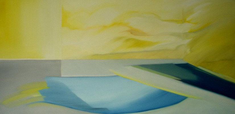 Landschaft, Öl auf Leinwand, 100 x 200 cm