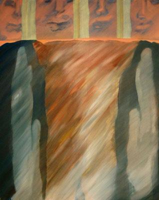 Öl auf Leinwand, 100 x 80 cm