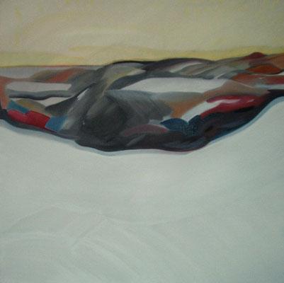 Landschaft, Öl auf Leinwand, 90 x 90 cm