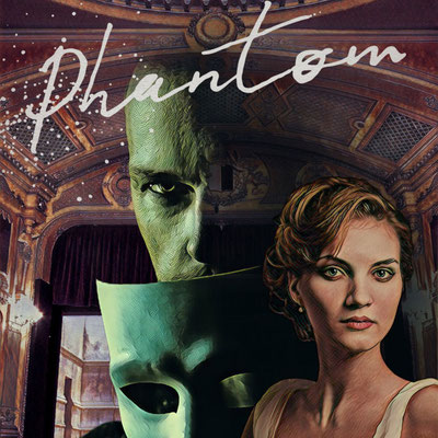 Phantom digital collage by Teresa Cowley