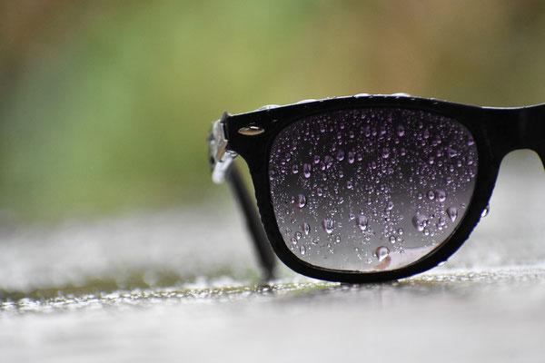 Brille, verregnet