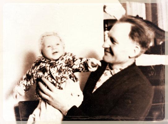 Jakob Schütz mit Enkeltochter