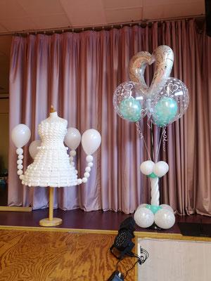 Robe en ballon et colonne bubble
