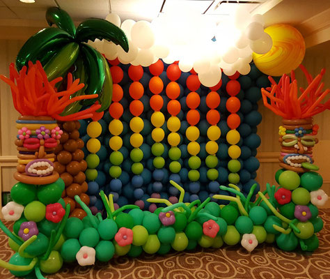 Photobooth Tropical en ballons