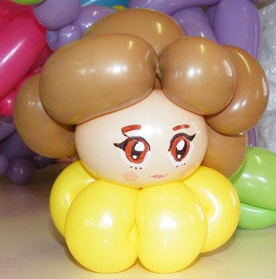 Princess Belle sculpture ballon