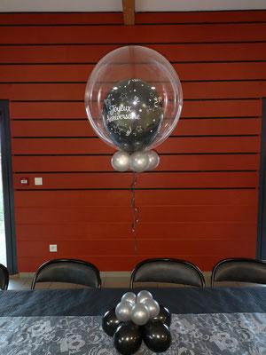 Centre de table Bubble Joyeux anniversaire