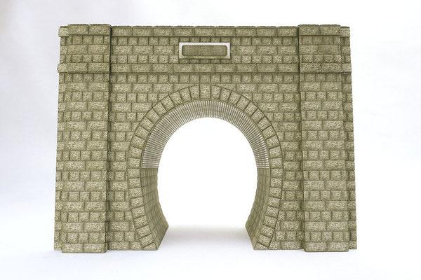 厚紙を彫刻してディテールを再現。壁柱や扁額、内壁は別パーツです。