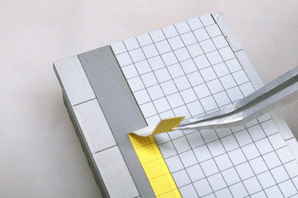 azusacraftのホームは点字ブロックを貼る場所がデザインされています