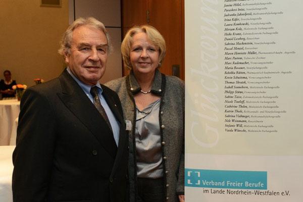 VFB NW-Vorsitzender Klein und NRW-Ministerpräsidentin Kraft