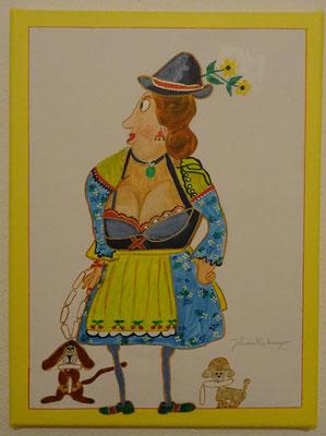 """Tante Elli"", Acryl auf Leinwand"