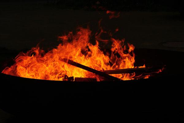 Knüppelkuchen Feuer