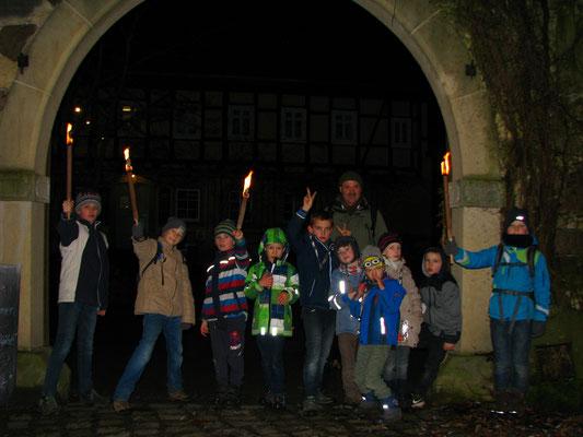 Die Gruppe an der Zschonermühle