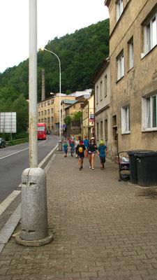 Laufen in die Stadt