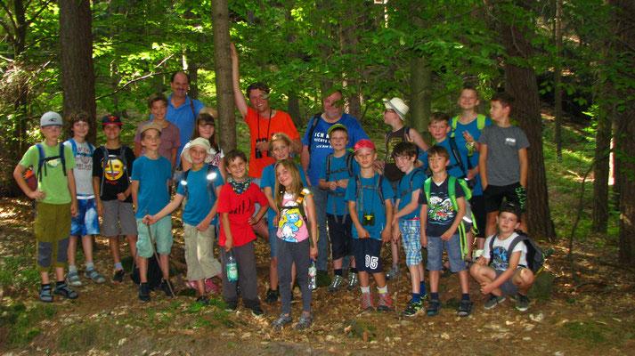 Die Gruppe im Wald