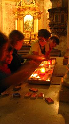 Kerzen für die Lieben