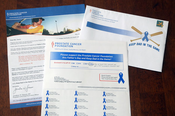Direct Mail for Prostate Cancer Foundation & MLB