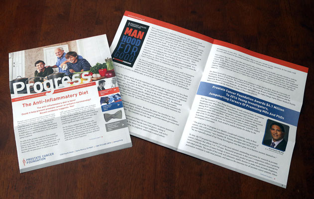 Newsletter Direct Mail for Prostate Cancer Foundation