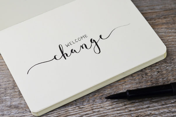 Welcome Change. Veränderung ist willkommen. Gemeinsam können wir an deiner Veränderung arbeiten.