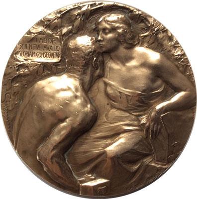 Bild:  Ehrenmedaille zur Weltausstellung Milano 1906, Fa. R. Burger & Co.