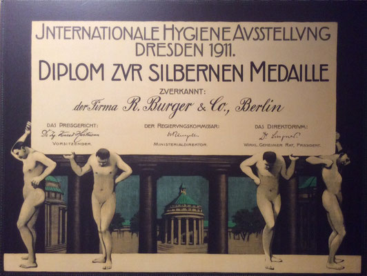 Urkunde zur Internationalen Hygieneausstellung Dresden 1911