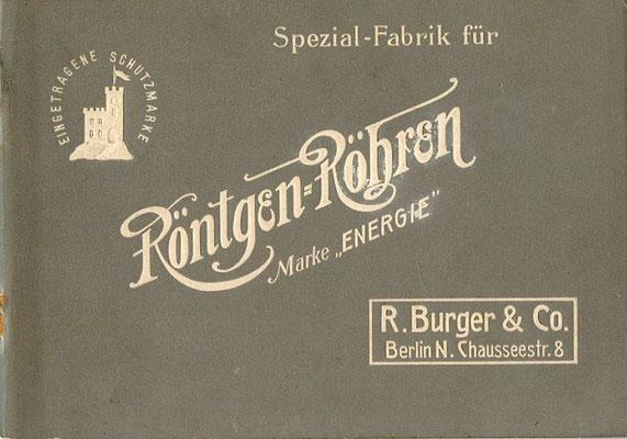Bild: Broschüre in deutscher Sprache nach 1911