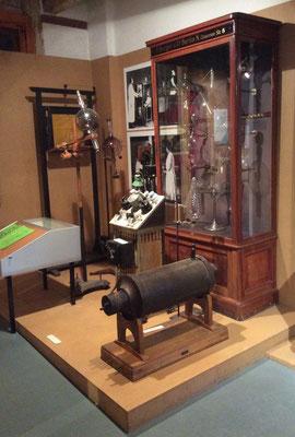 Aufbau der Röntgenanlage im Burger-Museum