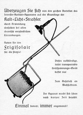 Bild. Transportabler Kaltlicht-Rotlicht-Apparat