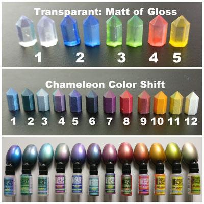 MarTiny Creations - Kleurvoorbeelden Crystal Formations