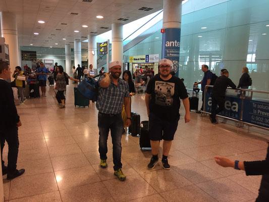 Überraschung am Flughafen Barcelona