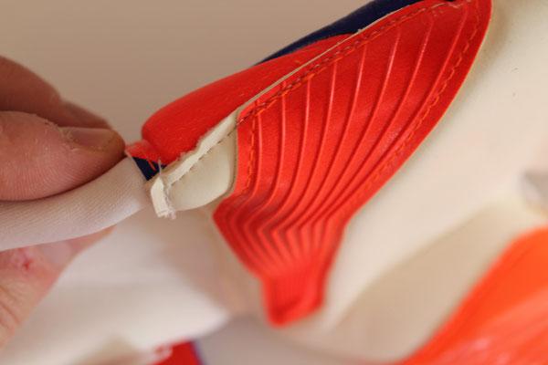 Ichnos Futsal Neon Rayon Cinq Un Côté Cropped doigts gardien de but gardien gants