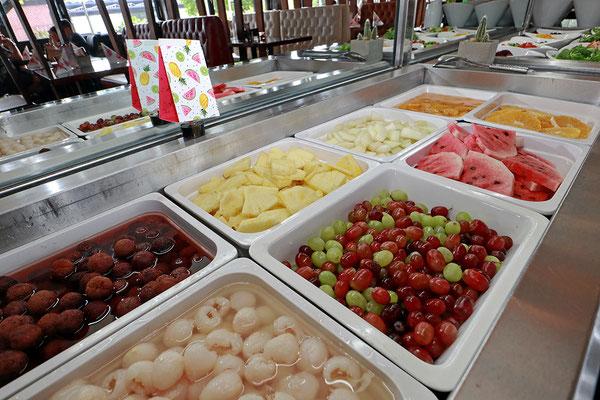 Frisches Obst und Früchte Buffet
